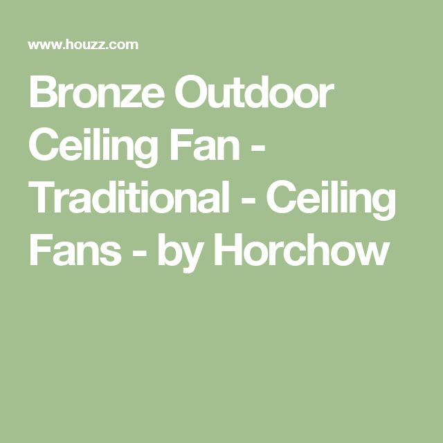 Bronze Outdoor Ceiling Fan - Traditional - Ceiling Fans - by Horchow