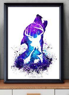 Harry Potter Marauders Aquarell Kunst Poster drucken – Wand-Dekor – Aquarellzeichnung – Hauptdekor – Kids-Dekor – Kinderzimmer Decor