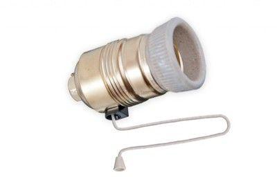 Oprawka żarówki E27 z wyłącznikiem sznurkowym