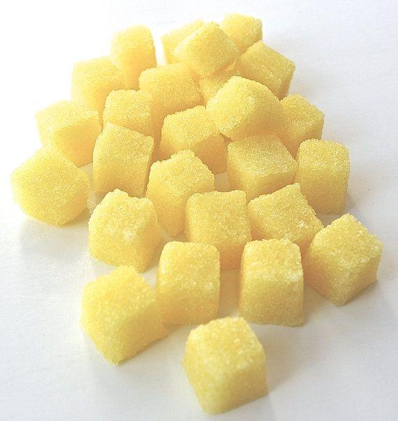 Lemon Flavored Sugar Cubes- for Tea Parties, Champagne Toasts, Lemonade Parties, DIY Favors, Coffee, Tea, Berries, Cider