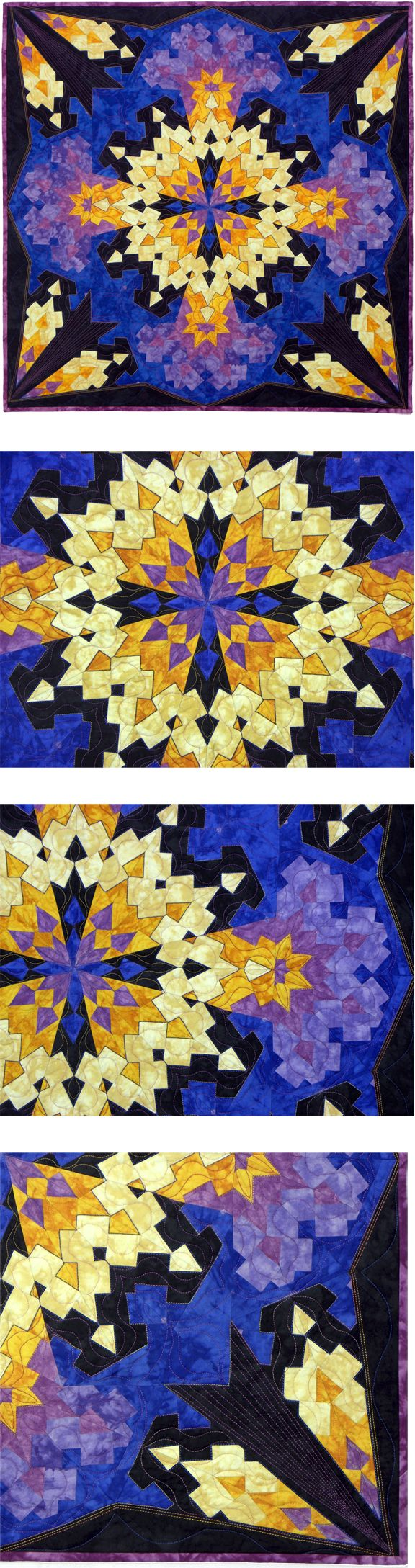 Quilt, Strip Pieced, Kaleidoscope, Rita Hutchens, Video: www.youtube.com/watch?v=Gl0yo9-1omc&list=UUtEuyNc9YD-XVdjgWet7H5A