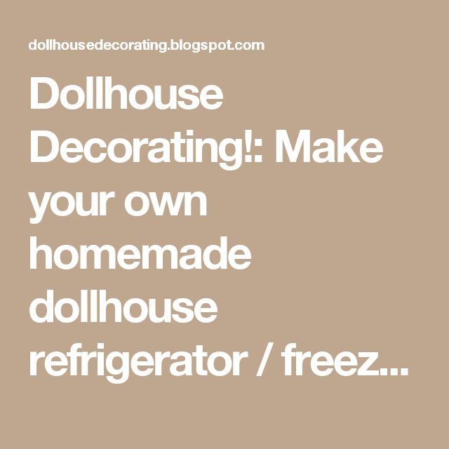 25 unique homemade dollhouse ideas on pinterest diy for How to make your own dollhouse