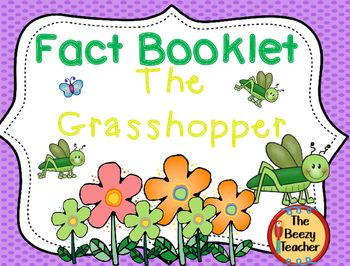 This fact booklet on grasshoppers is a great resource to use for doing a research project on insects with your kindergarten class. It is difficult to find age appropriate facts where the child can be independent in their research skills. Included in this product is a black and white informational book about grasshoppers, a worksheet for note-taking, the research form to be filled out by the child, a riddle and additional notes for the teacher.