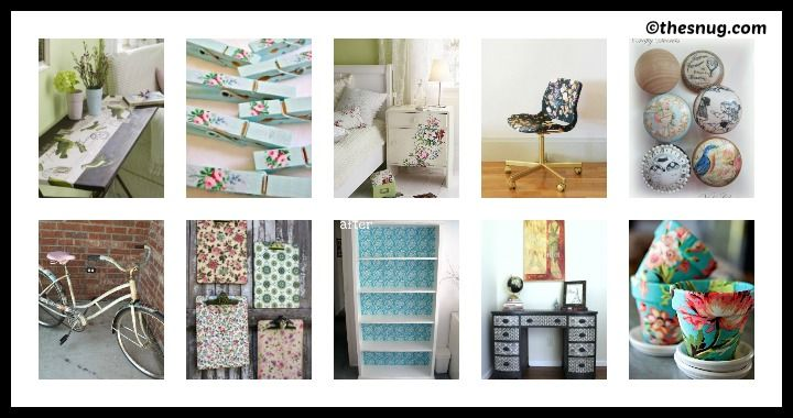 10 DIY Decoupage Ideas
