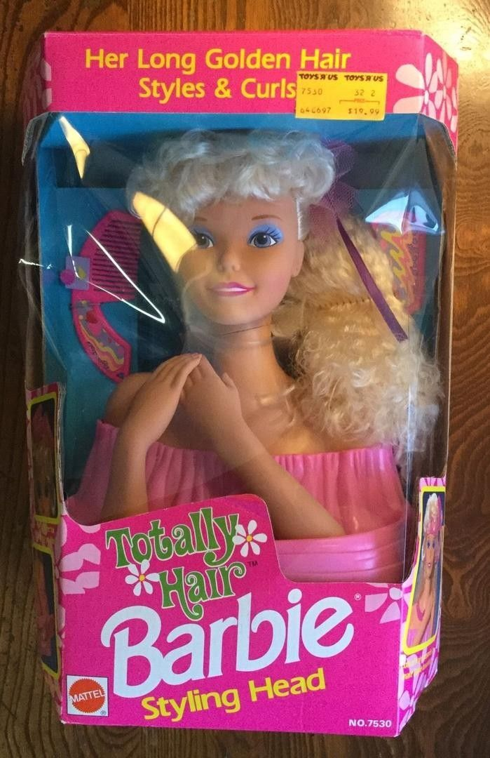 Hello You Are Bidding On A Vintage Mattel Arco Barbie Styling Head Toy Totally Hair Styling Head Doll Playset Unopened And U Barbie Mattel Barbie Mattel