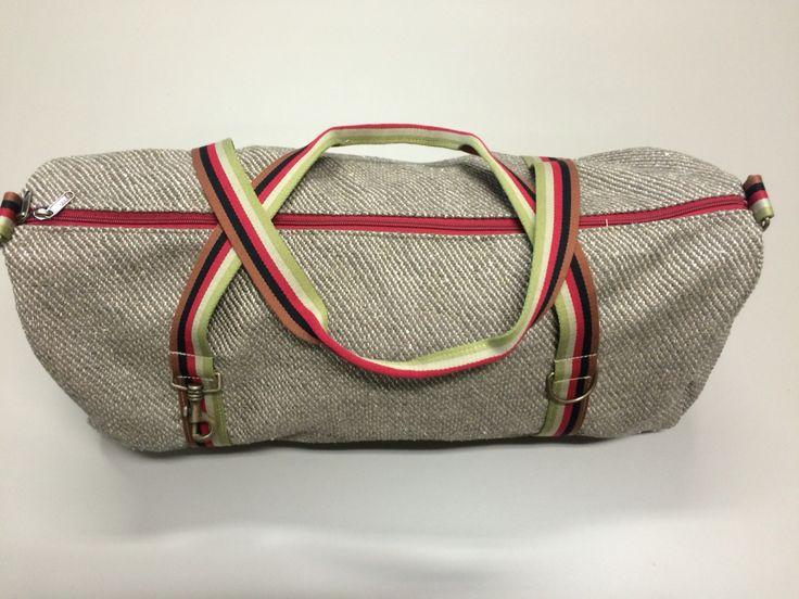 mod.4 - beige bag - multicolour stripes