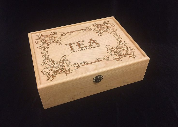 Unfinished Wooden Engraved Tea Box with Hinges & Latch-12 1/8 x 9 1/4 x 3 3/4-unfinished wood box-engravable wood box-12 compartments. All of our boxes are hand made by my sons and I in my shop in Tennessee. We use only strong American hardwoods for the construction of the sides of our boxes. This gives your box strength to last for generations. We don't soft woods like pine or imported woods. These boxes are crafted from 3/8 inch Poplar, Oak, Maple, or Cherry hardwood. They have a…