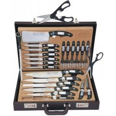 24pcs Knife and Steak Fork Set, Presented in a briefcase..