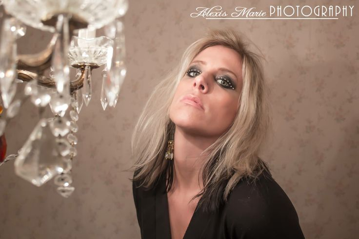 Photo of the singer Janie Kelley from our band photoshoot. Dark smokey eye with gems. Makeup by Alexis Marie Makeup Photography by Alexis Conkling