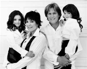 Kris & Bruce Jenner with daughters Kendall & Kylie