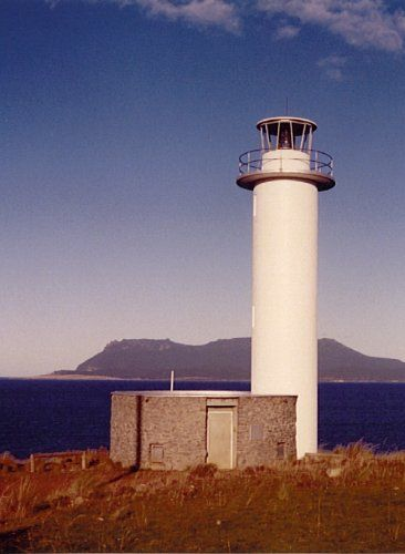 The Point Home Lookout Lighthouse near Triabunna [Photograph: Deborah Taylor]