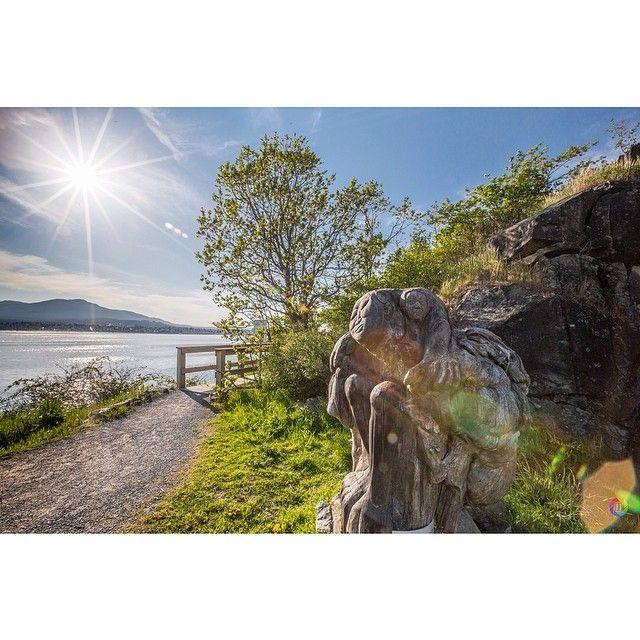 A sunny Biggs & Jack Point Park in Nanaimo, British Columbia
