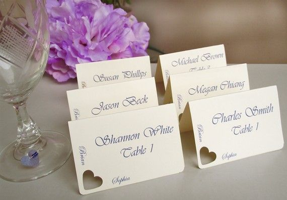 Wedding place cards escort cards seating cards  by PassionArte