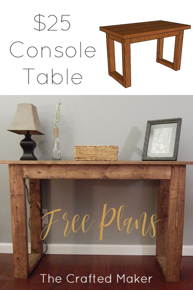 25 Console Table With Free Plans Diy Entryway Table Diy Sofa