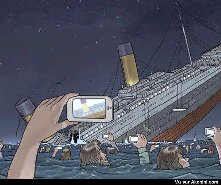 Humour Noir N°6505 - Si le Titanic avait coulé aujourd'hui