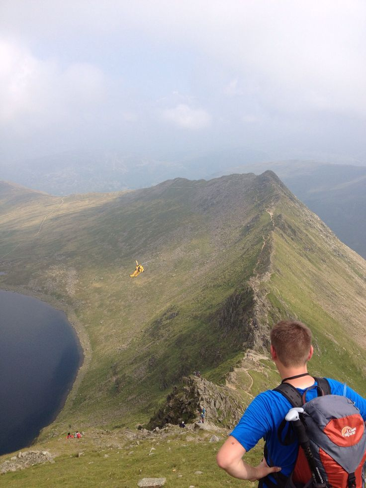 Hike up to Helvellyn via striding edge