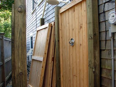 how to build a shower outdoors howto diy network - How To Build An Outdoor Shower