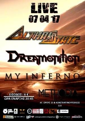 Alphastate, Dreamonition, My Inferno: 17 Απριλίου @ methodia