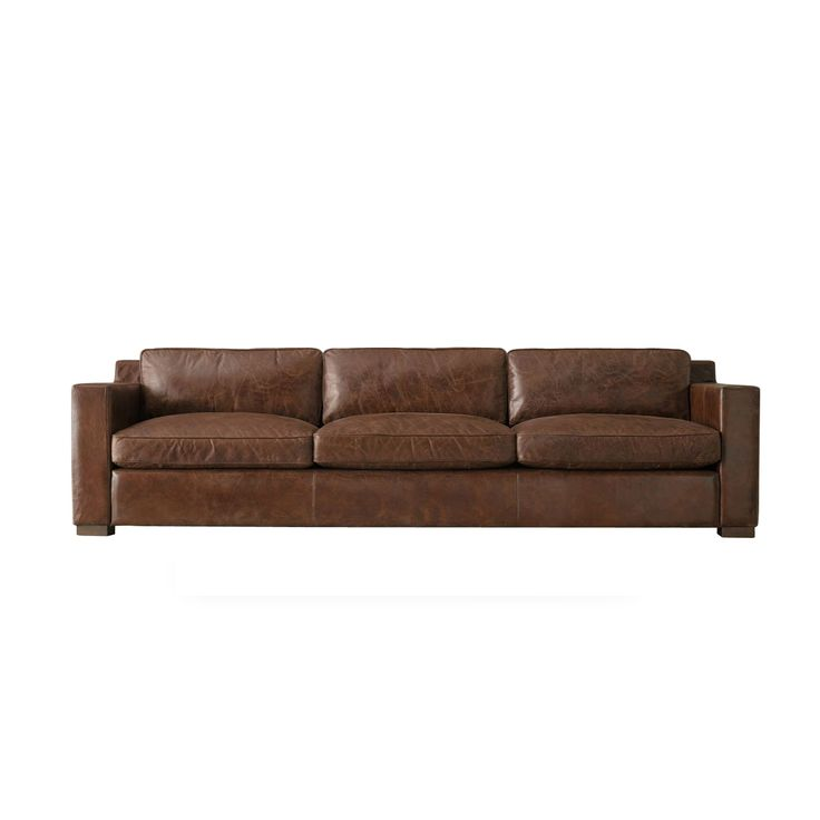 Tag By Tandem Arbor Bryant 6 Foot Extra Deep Black Or Brown Leather Made To Order Sofa