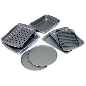 BakerEze 8-Piece Non-stick Toaster Oven Set-need to replace mine :(