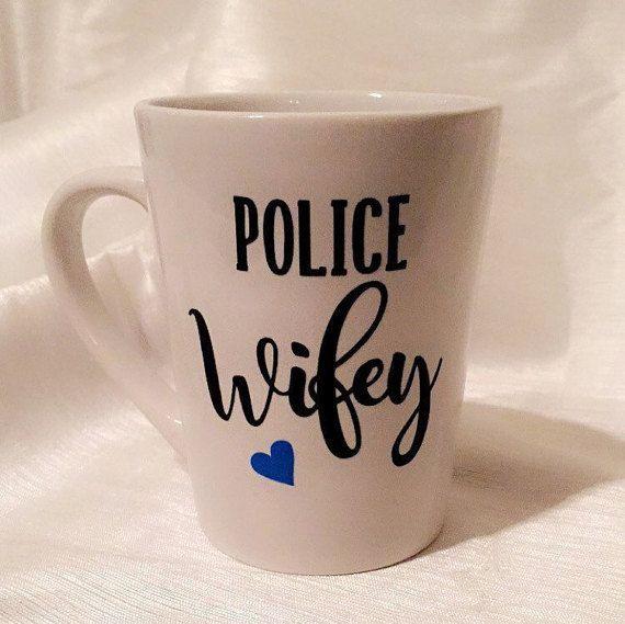 Police Wifey Mug. Police Wife. Police Mug. by SouthernStateofVinyl