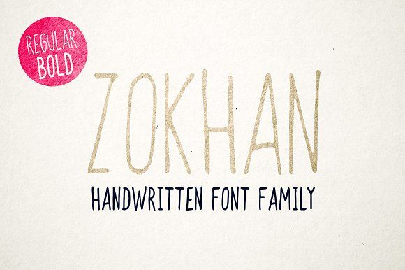 Zokhan - Font Family by Roman Paslavskiy on @creativemarket