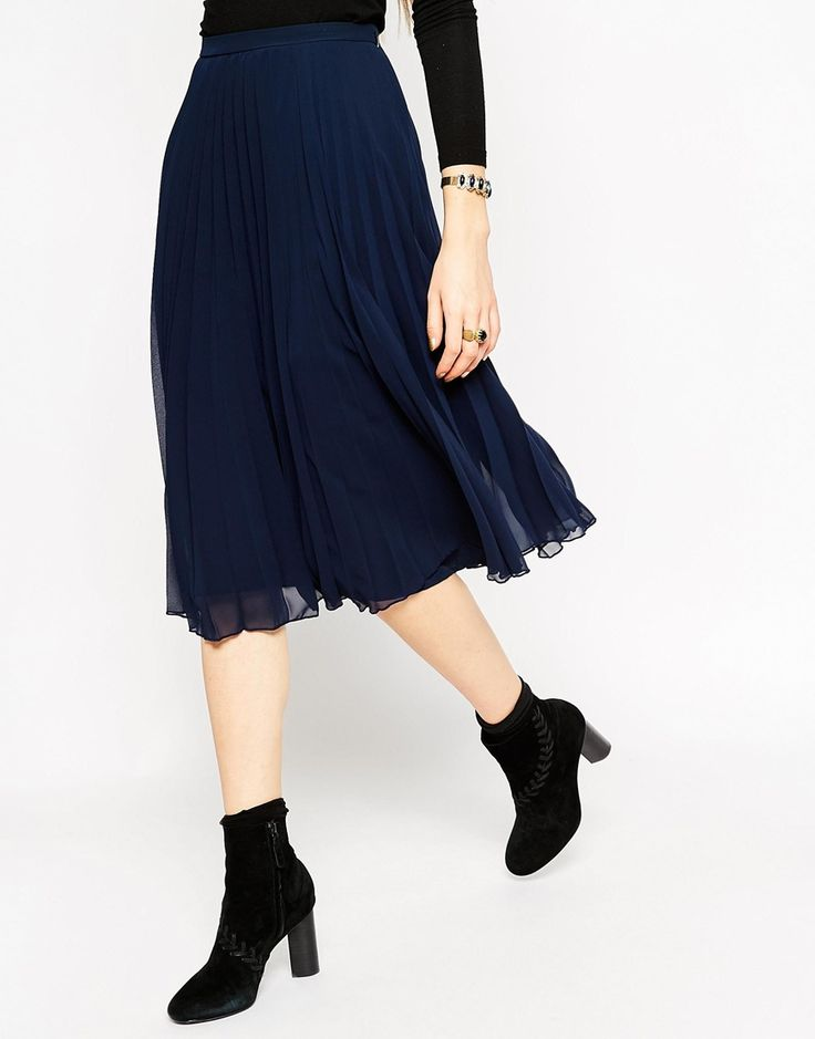 Image 4 ofASOS Pleated Midi Skirt