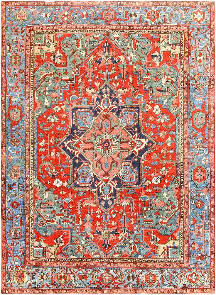 Antique Persian Heriz Rug 48005 Main Image - By Nazmiyal