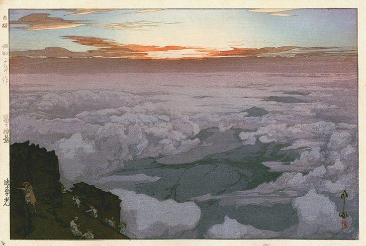 「御来光 富士拾景」Early Morning, Ten Views of Fuji - 昭和3(1928)年