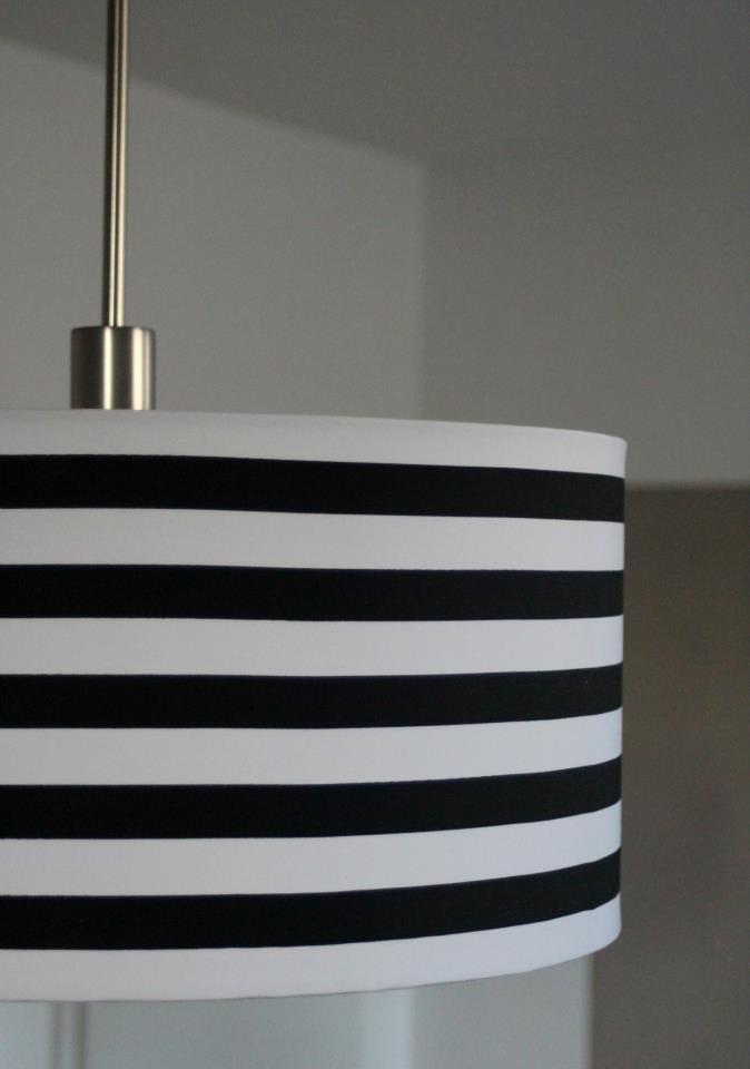 Lampenschirm schwarz weiß