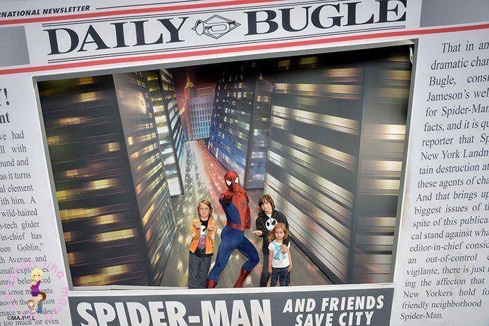 Foto con Spiderman en Disneyland París