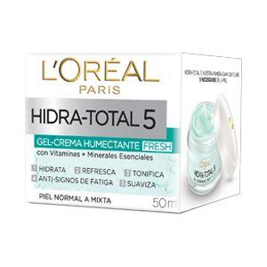 Hidra Total 5, Gel- crema humectante, te brinda 5 beneficios con un cuidado básico que tu piel necesita.