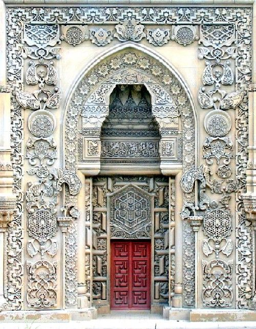 Main Door of the Mosque - Sutluce, Istanbul.  Incredible detail.