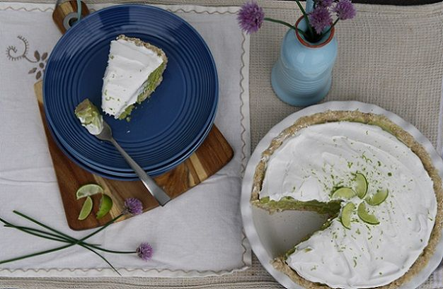 Perfectly fresh and divine Raw Key Lime Pie. Definitely a crowd show stopper. ;)