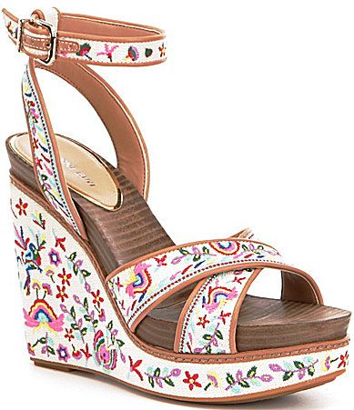 Gianni Bini Lusia Embroidered Wedges #Dillards