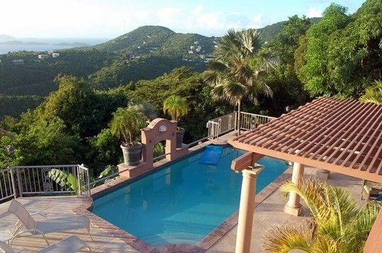 Gift Hill Villa Rental Pool In The Treetops Very Private Clothing Optional Travel