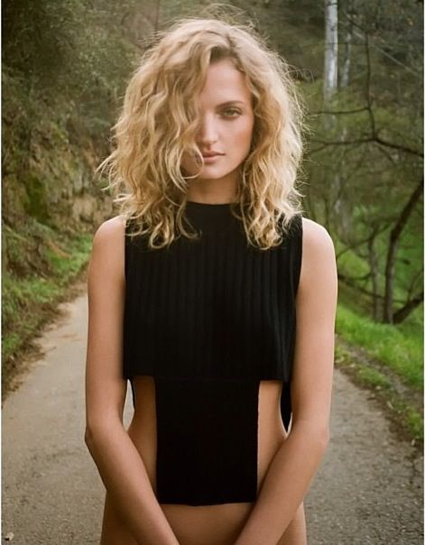 with a few shorter layers on top, I think this might work for when i want short hair (not quite this short)