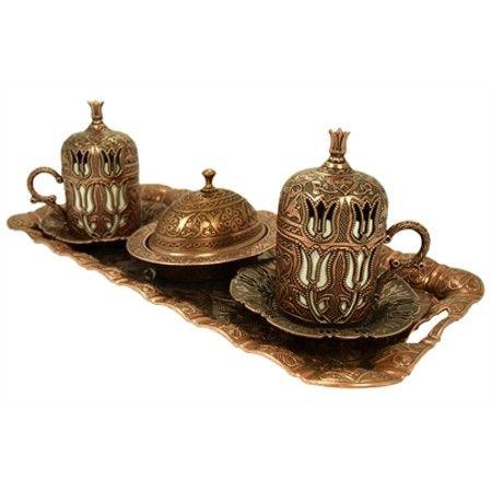 58,50TL  Ottoman Turkish Coffee Set  http://www.n11.com/ottoman-turkish-coffee-set-P61328017