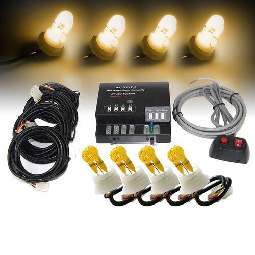 Xprite Amber 120W 4 HID Hide-A-Way Strobe Lights
