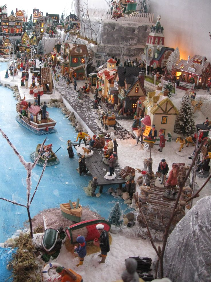 25 Unique Christmas Village Display Ideas On Pinterest