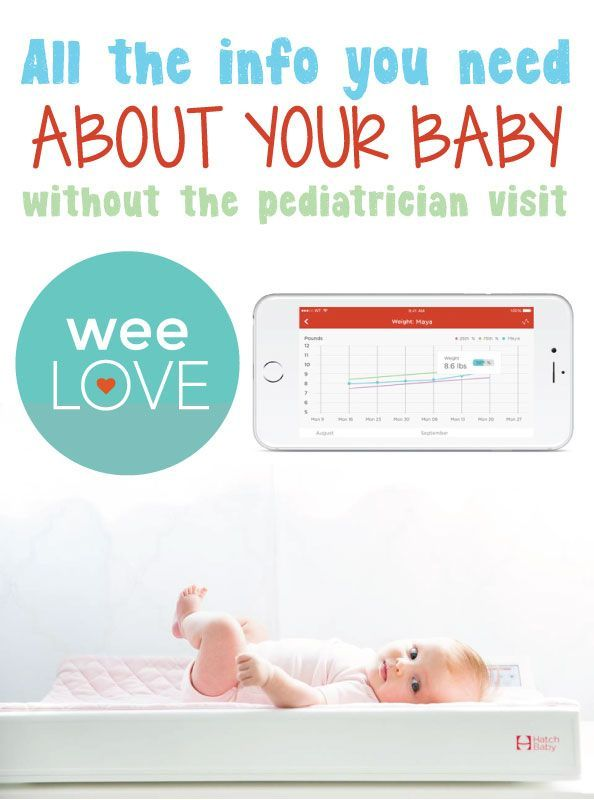 Hatch Baby's Smart Changing Pad takes diaper duty to the next level with a scale to track baby's growth, feedings, diapers, and sleep patterns.