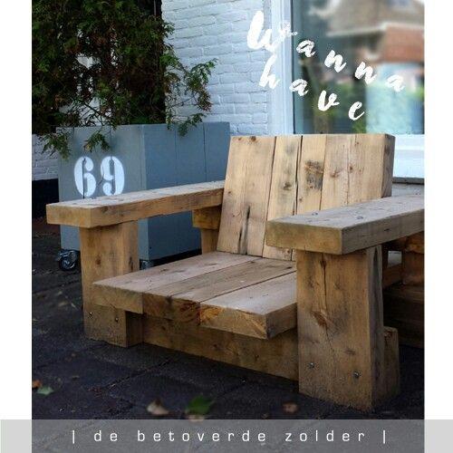 Wow deze stoere loungestoel Rest is een gave eye-catcher in je tuin! Gezien bij De Betoverde Zolder