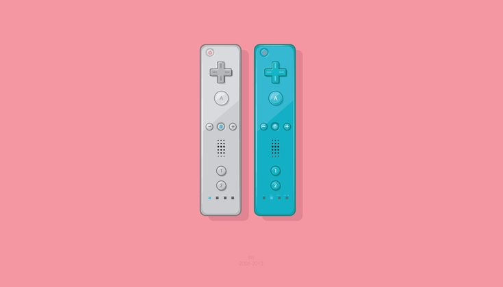 Nintendo Wii controllers by oldgraphicsdiehard   #nintendo #wii #segasaturn #gamer #controller #pad #joystick #console #videogame #80s #90s #retro #vector #grey #blue #illustration #illustrator #graphicdesign #design #adobe #classic #pink #salmon