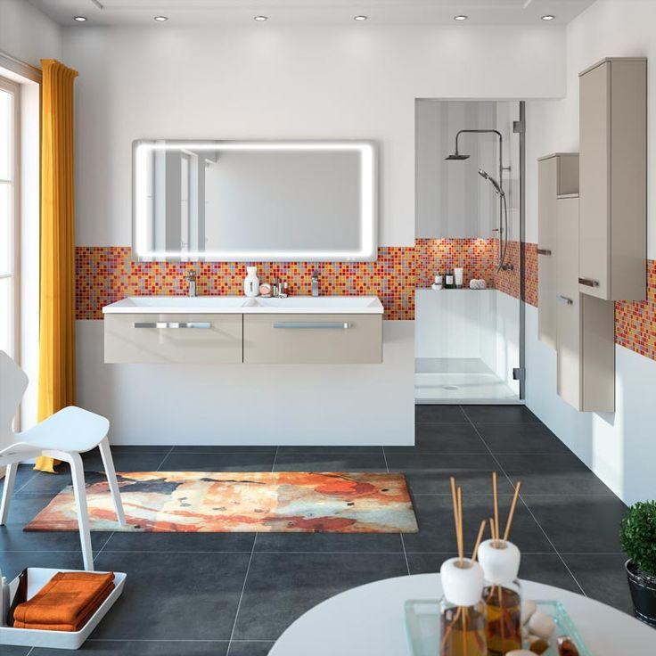 meuble de salle de bain cedam gamme horizon une ligne horizontale et pur e demi colonnes. Black Bedroom Furniture Sets. Home Design Ideas