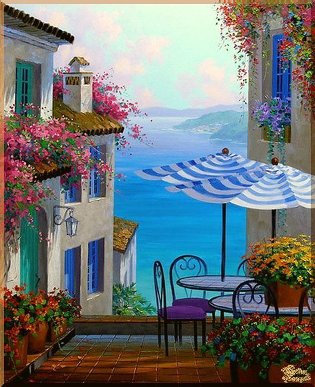 Mediterranean - 126 Средиземноморье, картины, подарки