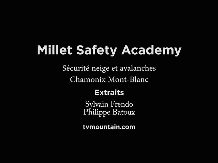 Février 2016, Millet Safety Academy, Chamonix Mont-Blanc... Extraits...  Neige et avalanches avec Sylvain Frendo et Philippe Batoux... VIDEO: http://www.tvmountain.com/video/montagne/11142-millet-safety-academy-chamonix-mont-blanc-securite-neige-et-avalanches.html