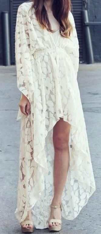 White Kaftan. I would definitely prefer a full length dress, but love the classic Kaftan/Kimono design.