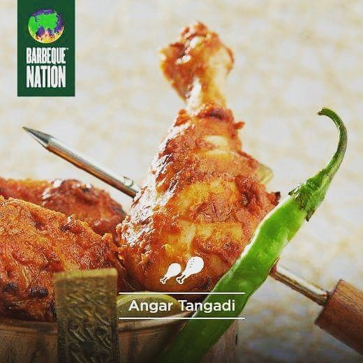 Tender #chicken, just falling off the bone, with spices that tickle every part of your tongue. Need we say more? #comefeastwithus  Download the Barbeque Nation Mobile App now.  #barbequenation #barbeque #kebab #kabab #barbeque #barbecue #foodies #foodlove #foodloversofinstagram #instafoodies #instalike #instadaily #grill #sundayfun #tangadi