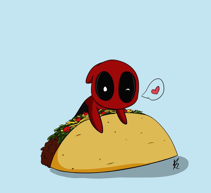 deadpool chibi tacos - Google Search