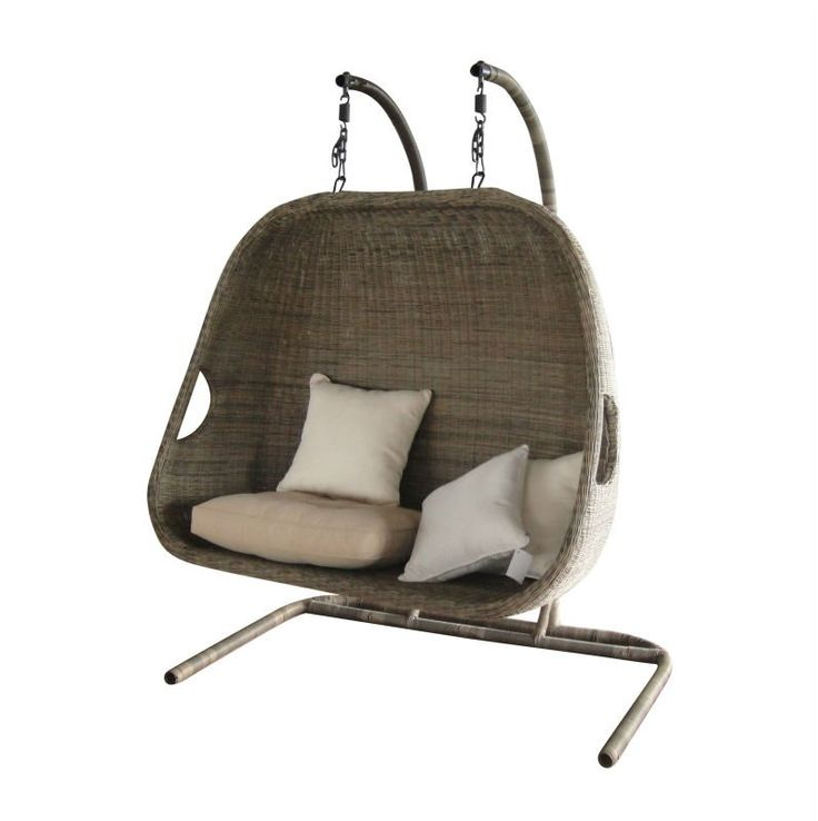 Double hanging swing chair with Canopy  used patio